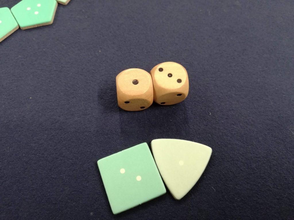 サイコロの出目引く、お宝の数