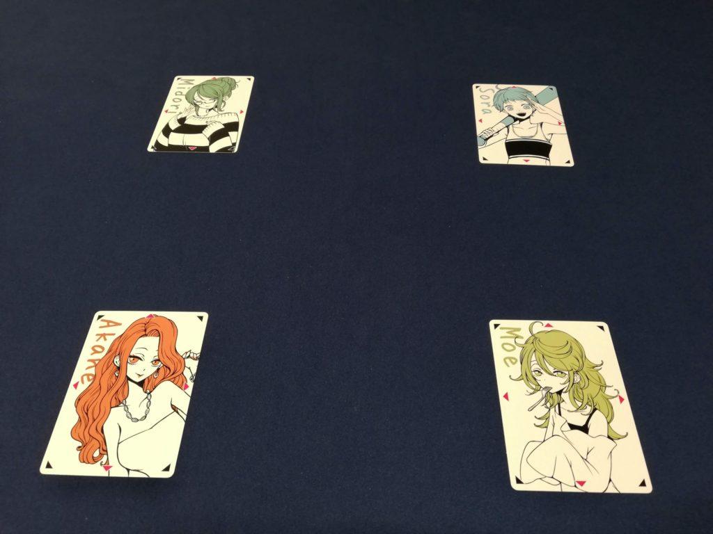 女の子カードを決める