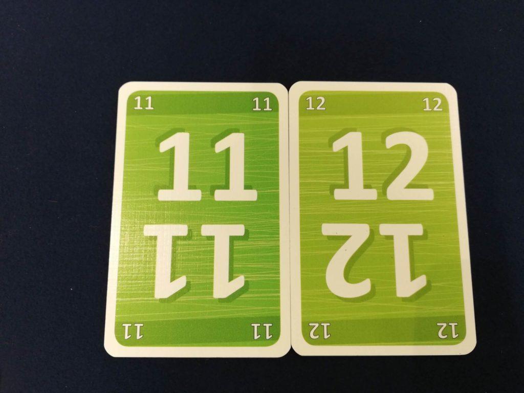 連番の数字カード