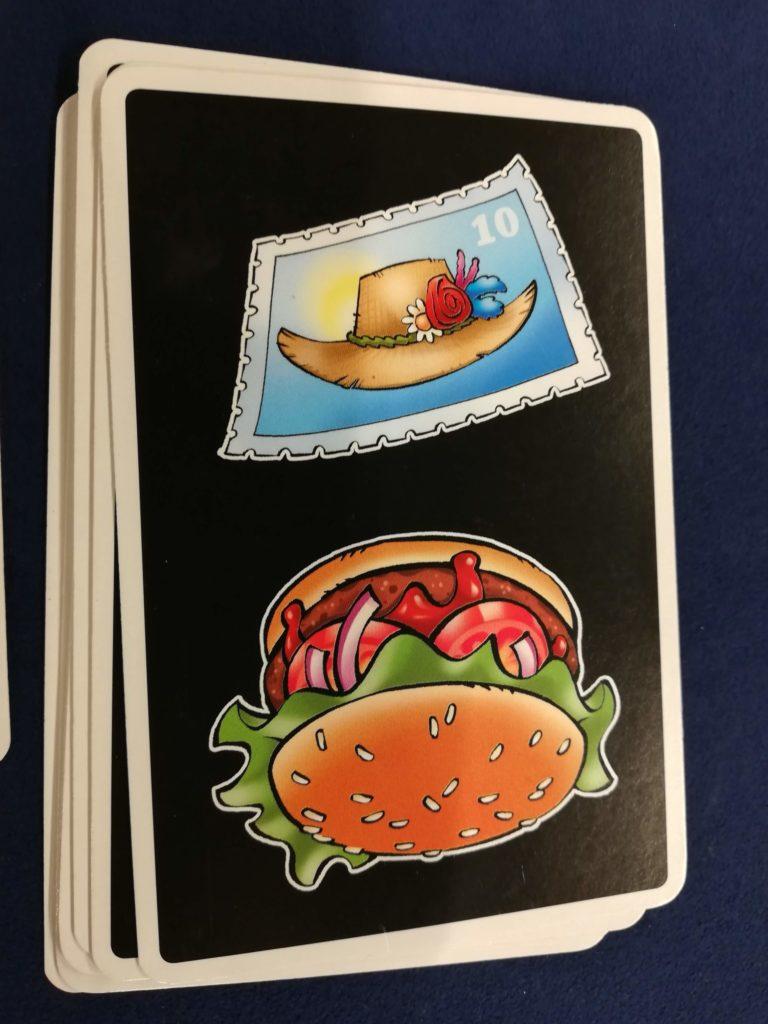 ハンバーガーのカード