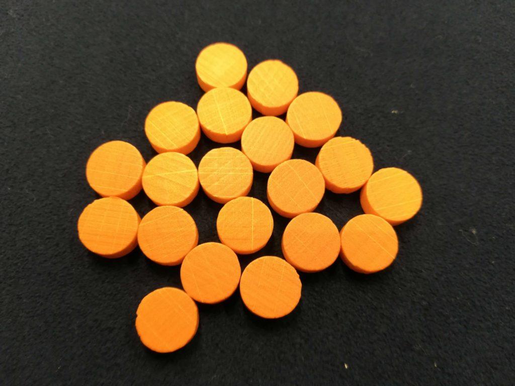 オレンジ色のコマ